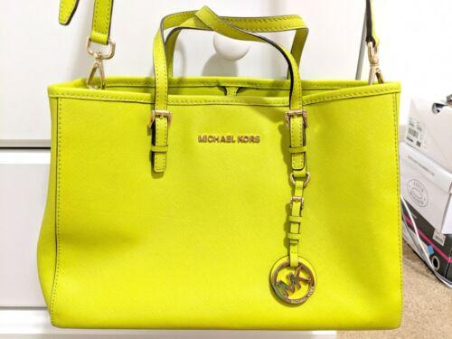 Michael Kors Saffiano Medium Leather Satchel Bag L