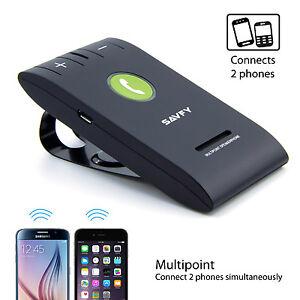 SAVFY-Bluetooth-Kit-Main-Libre-Haut-parleur-Voiture-Pare-soleil-iPhone-Samsung