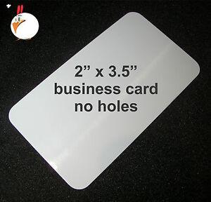 "50 White Dye Sublimation Aluminum BUSINESS CARDS 2"" x 3 5"