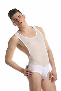 Body débardeur blanc taille M transparence sheer plum sexy Ref 328 ... 1ad270528a4