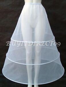 Glorieux Nouveau 3 Cerceau Crinoline Petticoat Robe De Mariée Jupon Uk-afficher Le Titre D'origine