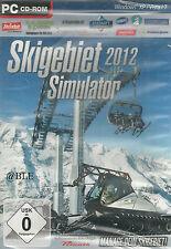CD-ROM + Skigebiet Simulator 2012 + Pisten + Pistenraupe + Räumfahrzeuge + Win 7