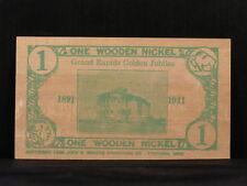"""""""WOODEN NICKEL"""" CARD 1891-1941 Grand Rapids Minnesota Golden Jubilee Souvenir"""