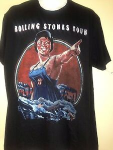 ROLLING-STONES-2010-FACTORY-GIRL-LARGE-T-SHIRT-T-ROCK-OUT-OF-PRINT