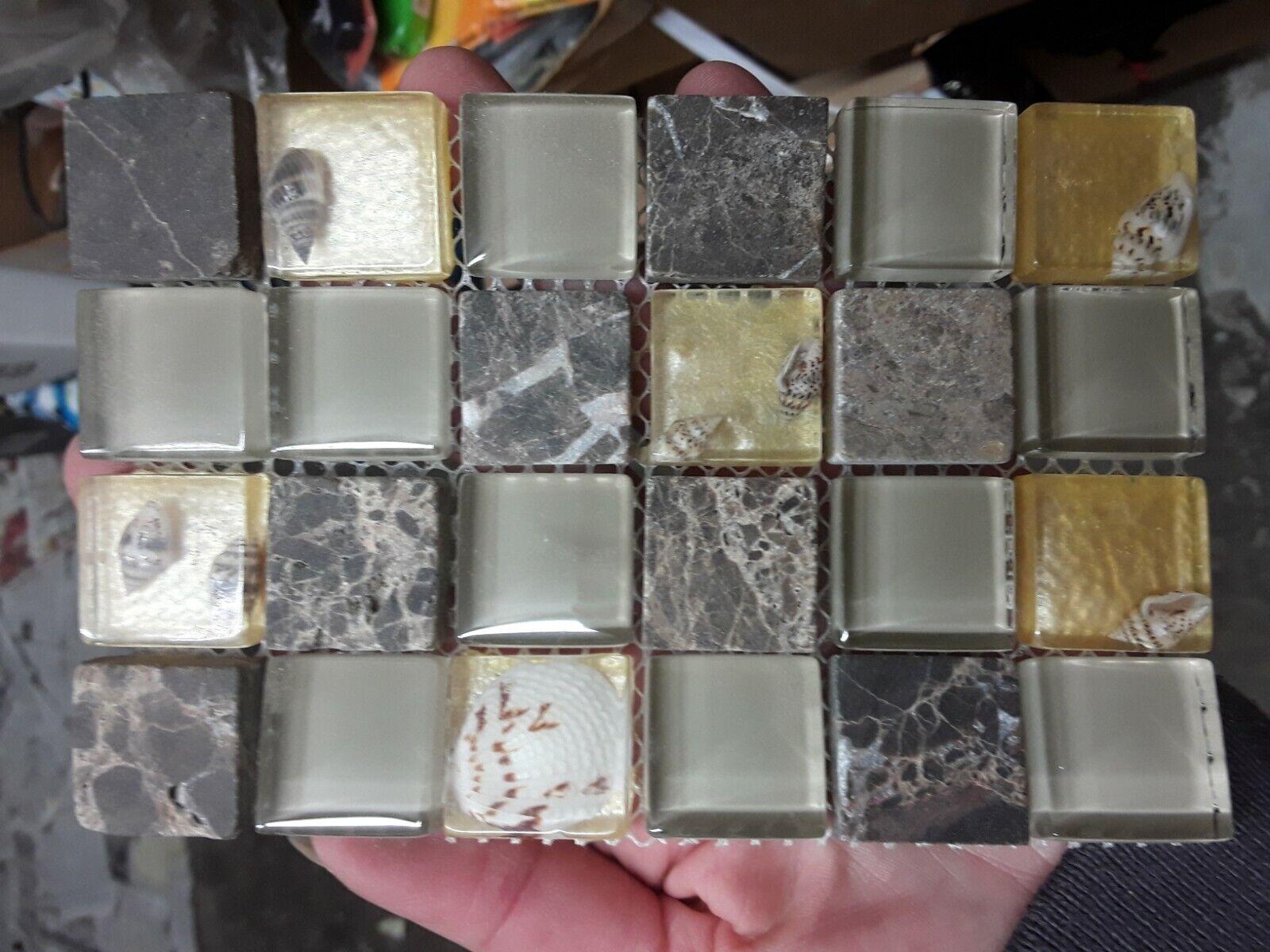 - LOT -NEW Sample- Porcelain Mosaic Tile Kitchen Backsplash Spa Sink