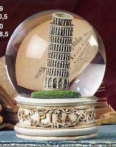 Bola-de-Nieve-Grande-Pisa-Pizarra-Turm-Brillo-Snowglobe-Italia-Recuerdo