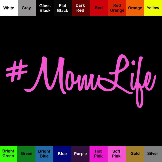 hashtag mom life for car or truck Decal // Sticker #MomLife Select Color