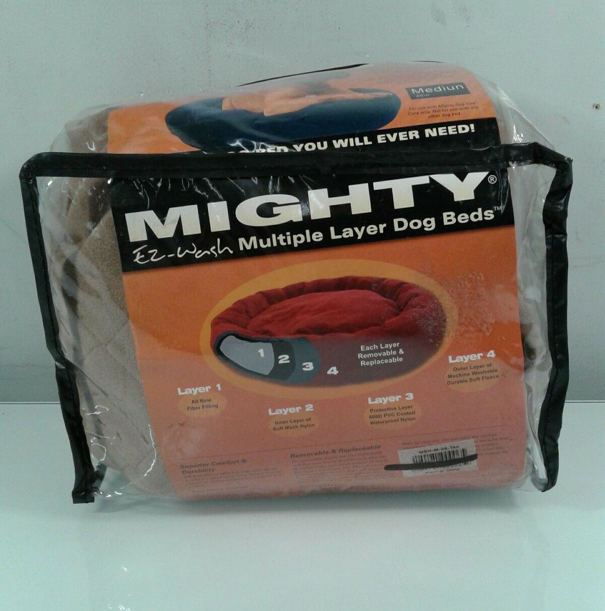 Mighty Dog Bed Sheet Removable Replaceable Zippered Soft Fleece Sheets Ez Wash