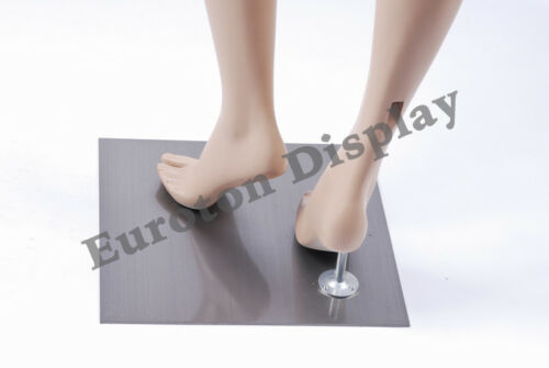 Metallplatte eckig 35 x 35 cm Standplatte für Schaufensterpuppe mit Fußdorn