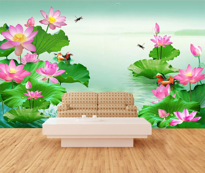 3D Flowers bloom fresh Wall Paper wall Print Decal Wall Deco Indoor wall Mural