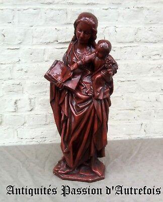 Bescheiden B2018388 - Grande ( 63 Cm ) Vierge à L'enfant En Plâtre - Très Bon état
