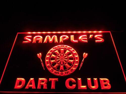 Name Personalized Custom Dart Club Bar Beer Neon Sign hang sign