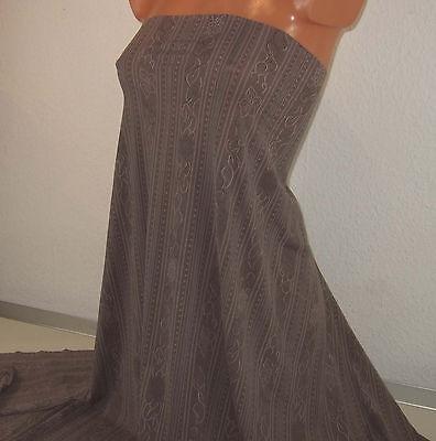 2,3 m Fein Jacquard Single Jersey taupe, 5,95 €/m, Längsstreifen + Blüten Design