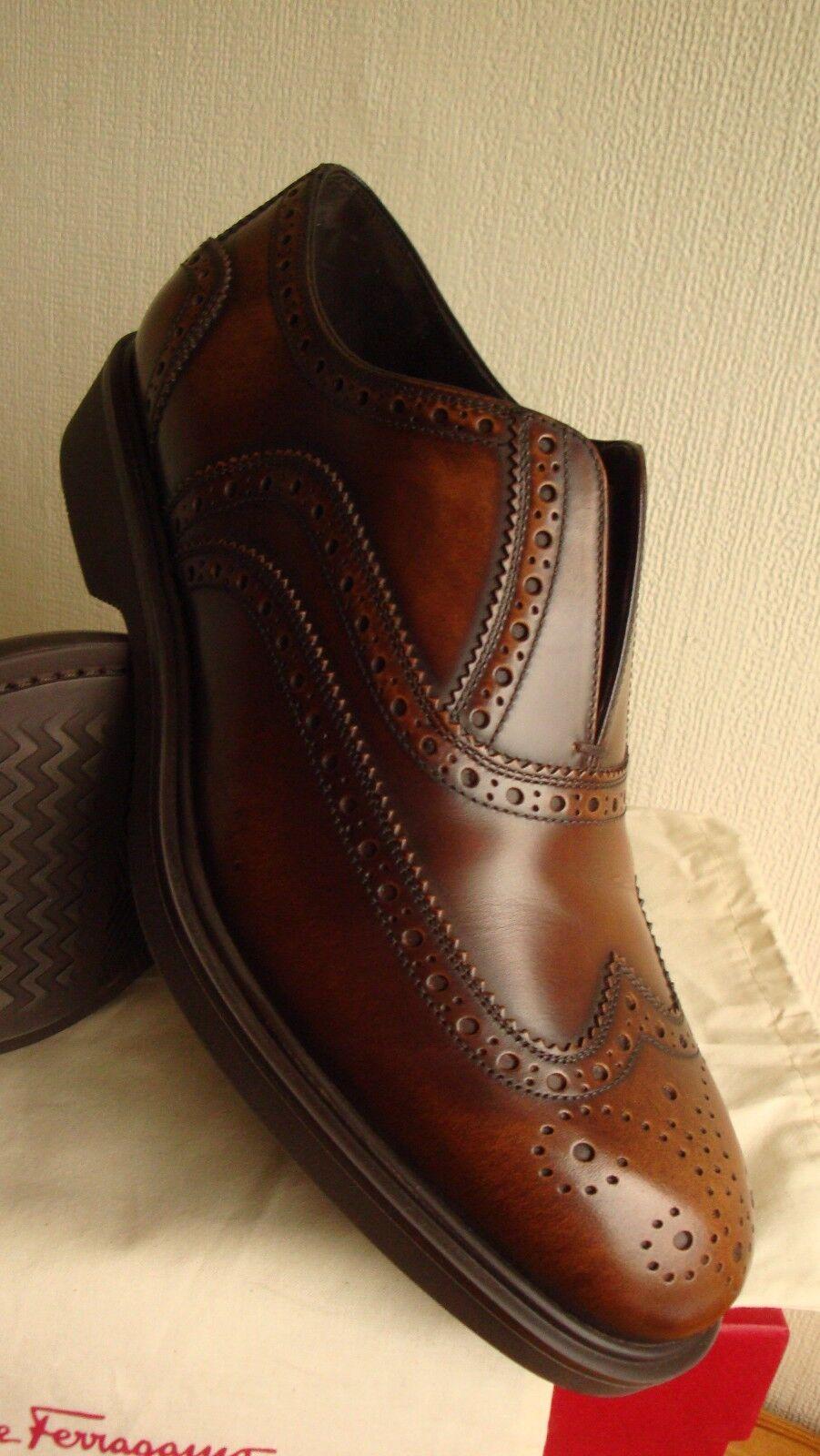 negozio outlet Ferragamo Slip-On Elasticizzato Elasticizzato Elasticizzato Lazyman ALA TIP SCARPE BROGUE OXFORD scarpe 6.5 7.5 EEE  prendiamo i clienti come nostro dio