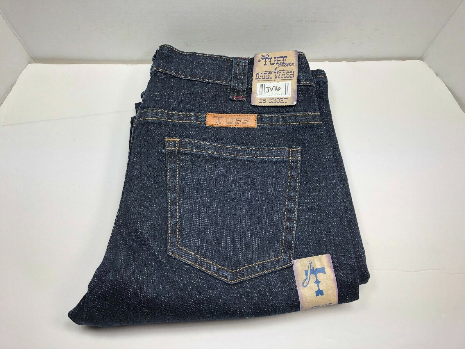 Cowgirl Tuff Women's 'Just Tuff' Dark Wash Bootcut Jeans, Size 28 Short (JV16)
