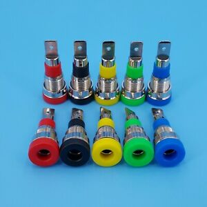 10Pcs Brass 5 Colors 2mm Small Banana Female Jack Chassis Panel Socket Connector