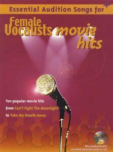 Essential Audition Songs For Female Vocalistes Movie Hits Music Book/cd-afficher Le Titre D'origine