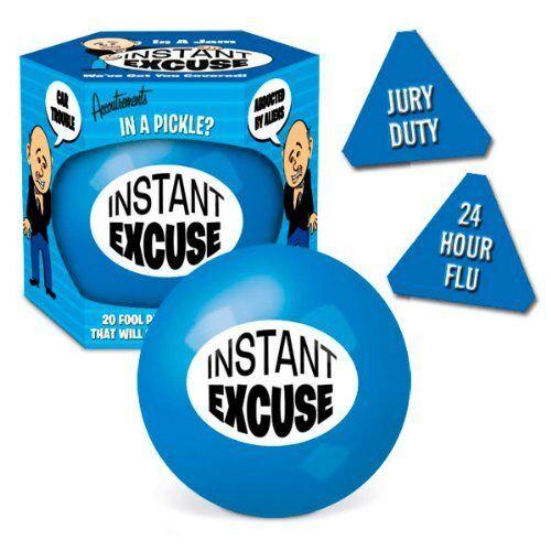 Instant excuse Ball comprend 20 différentes excuses Cadeau Amusant