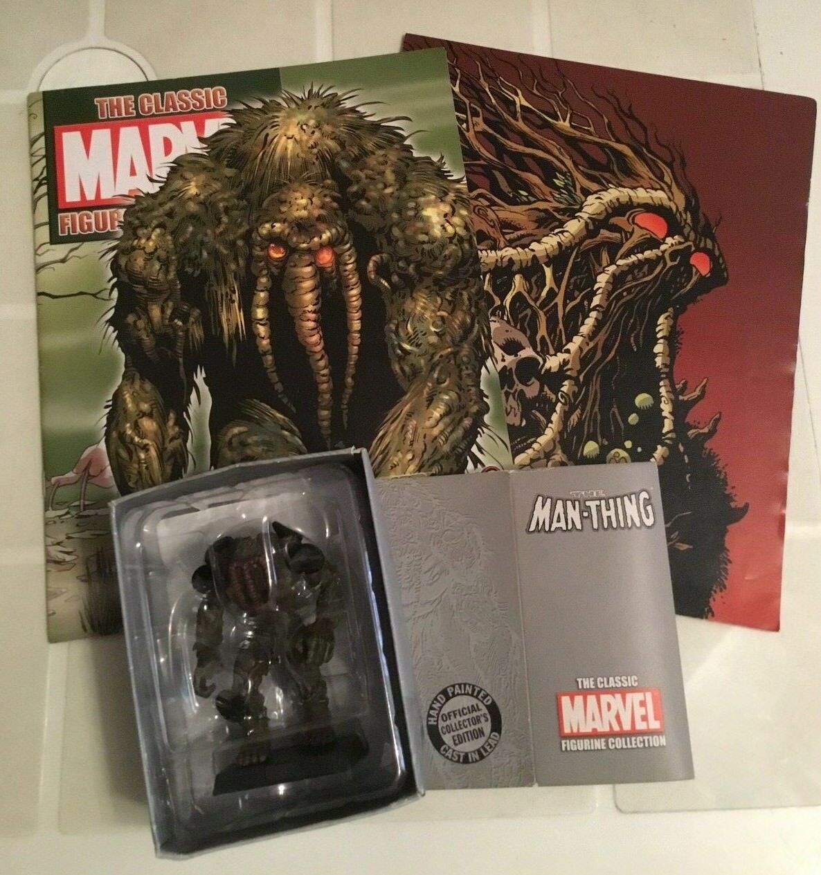 THE CLASSIC MARVEL FIGURINE COLLECTION SPECIAL THE MAN-THING Statua+ Fasc POSTER