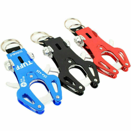 Tiger Hook Lock Carabiner Clip Hiking Climbing Tool S1O0 Keychain Ring Key Q8M4