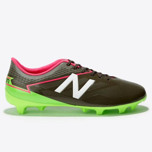 New Balance Furon 3.0 Dispatch Firm Ground Football Boots Shoes Black Green Kids