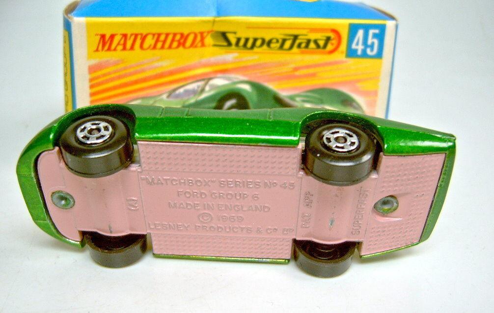 MATCHBOX sf Nº 45a 45a 45a Ford Group 6 d 'grünmetallic couleur rose BPL. top dans Box | Une Grande Variété De Modèles 2019 New  e538bd