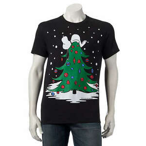 Peanuts Snoopy Christmas Tree Doghouse Tee Ugly Sweater T Shirt