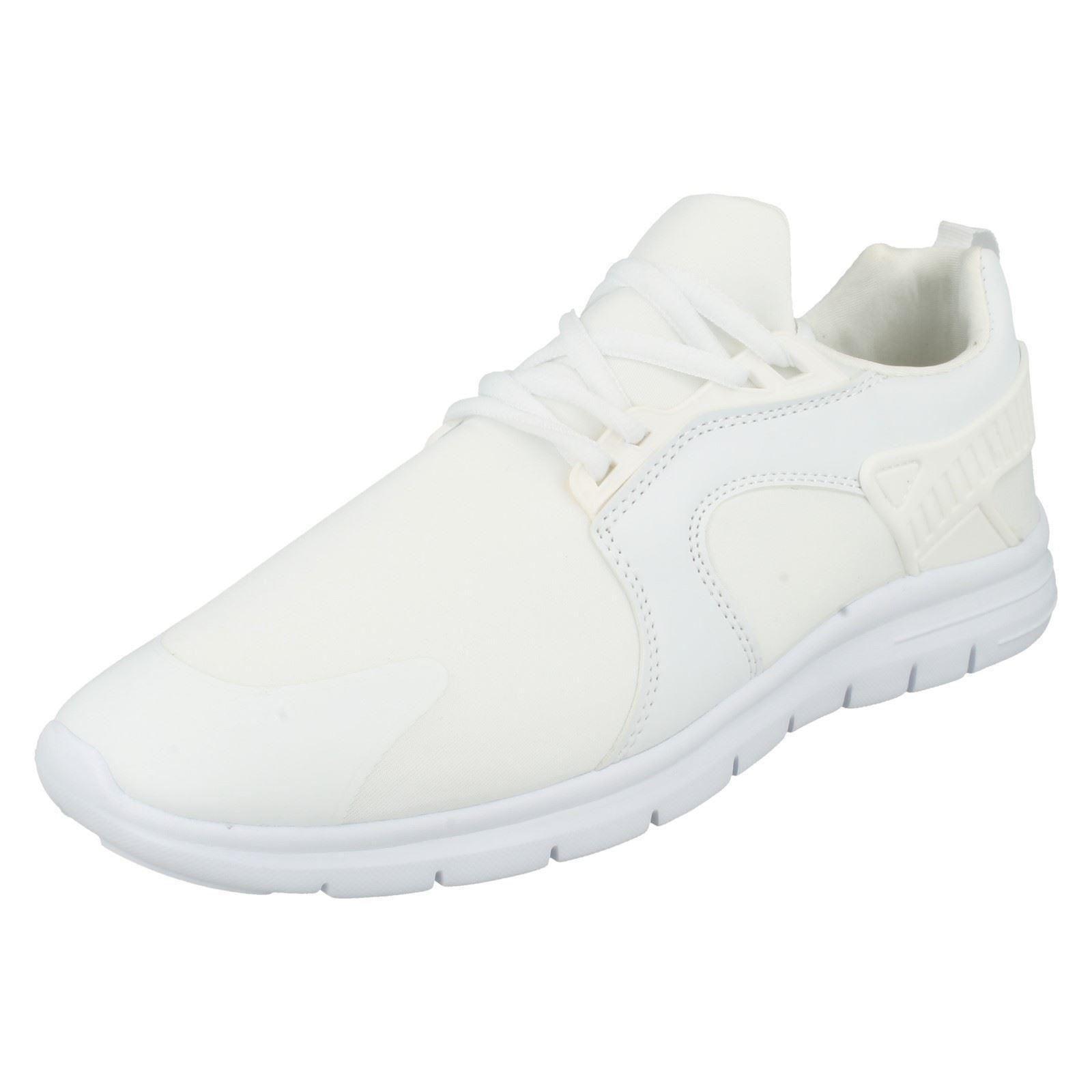Hombre RENAGADE Blanco de Zapatillas Con Cordones de Blanco aire Tech 7516ca
