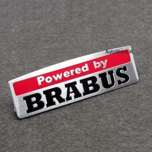 Aluminium Powered by Brabus Badge Emblem Decal Sticker interior rear boot n29