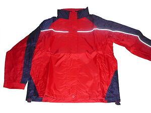 NEU-Kinder-Regenjacke-Gr-122-128-rot-blau
