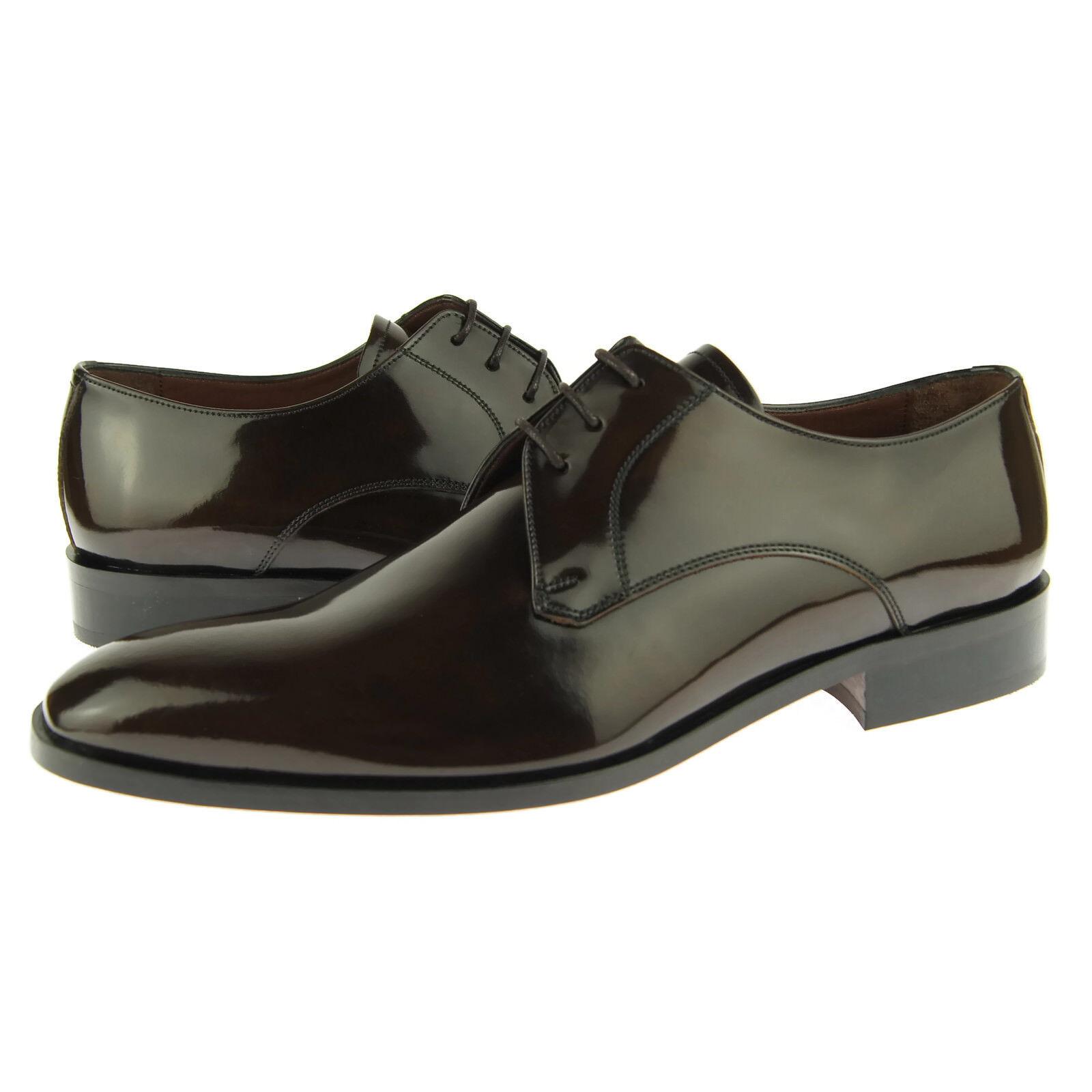 Zapatos De Vestir Alex D  Phoenix  Plain Toe Derby, Hombre Cuero Oxford, Marrón