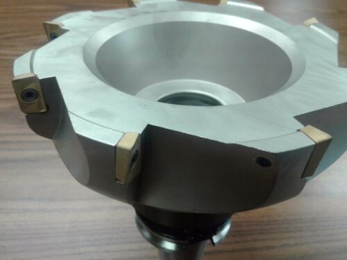 "CAT40 milling cutter 6/"" 90 degree indexable face shell mill APKT #Z-2526-608"