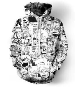My Hero Academia Anime Kapuzen Sweatshirt Langarm T-Shirt Hoodie Pullover Pulli