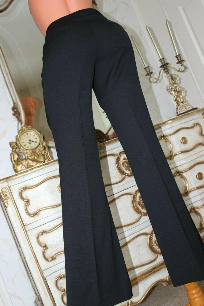 (ref 2) Next Noir Polyester Viscose élasthanne Taille Basse Femmes Pantalon Taille 8