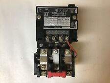 Square D 8536 Sbg1 Size 0 Motor Starter 2 Pole With 120240 Volt Coil