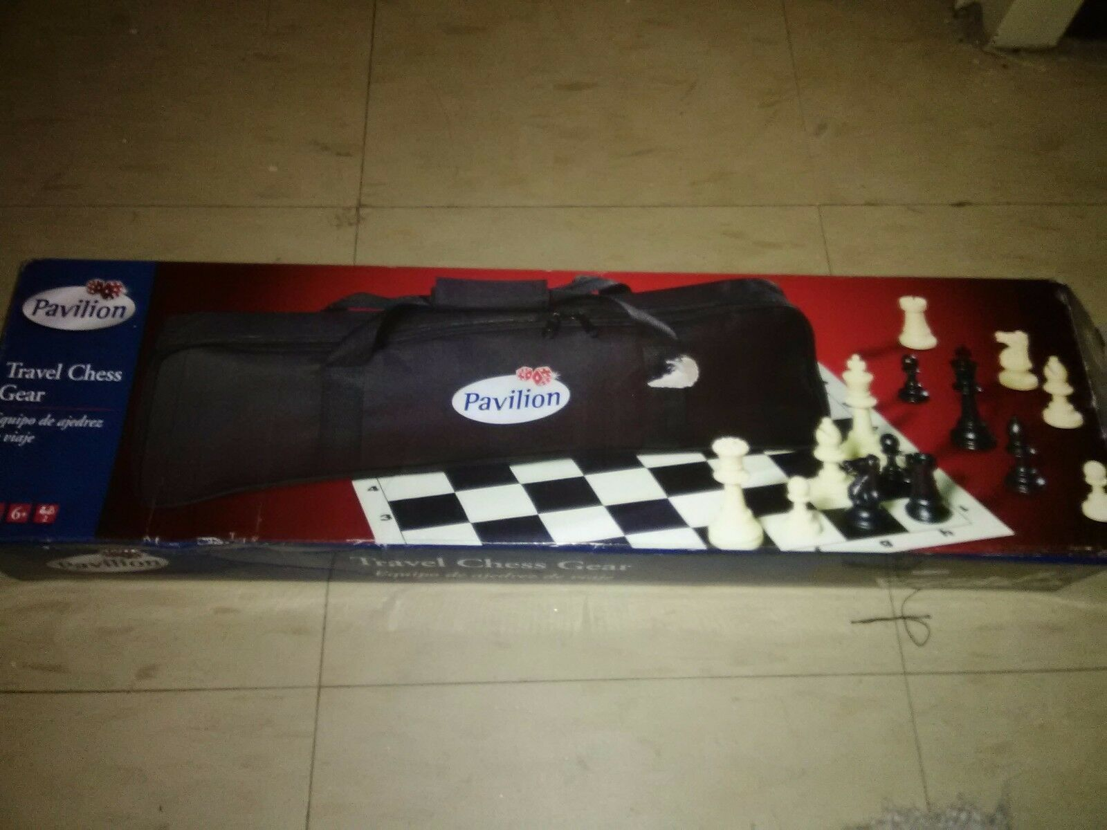 Pavilion Travel Chess Set with Travel Case Good Condition