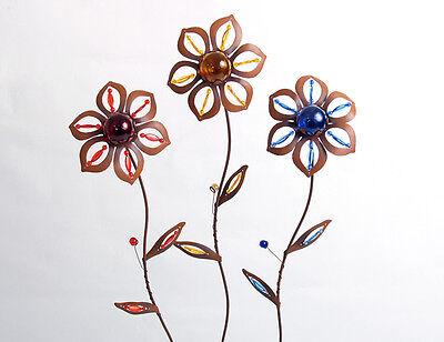 Clever Edelrost Optik Blume Beetstecker 23505 Metall Acryl Deko Garten Topfstecker Neueste Mode
