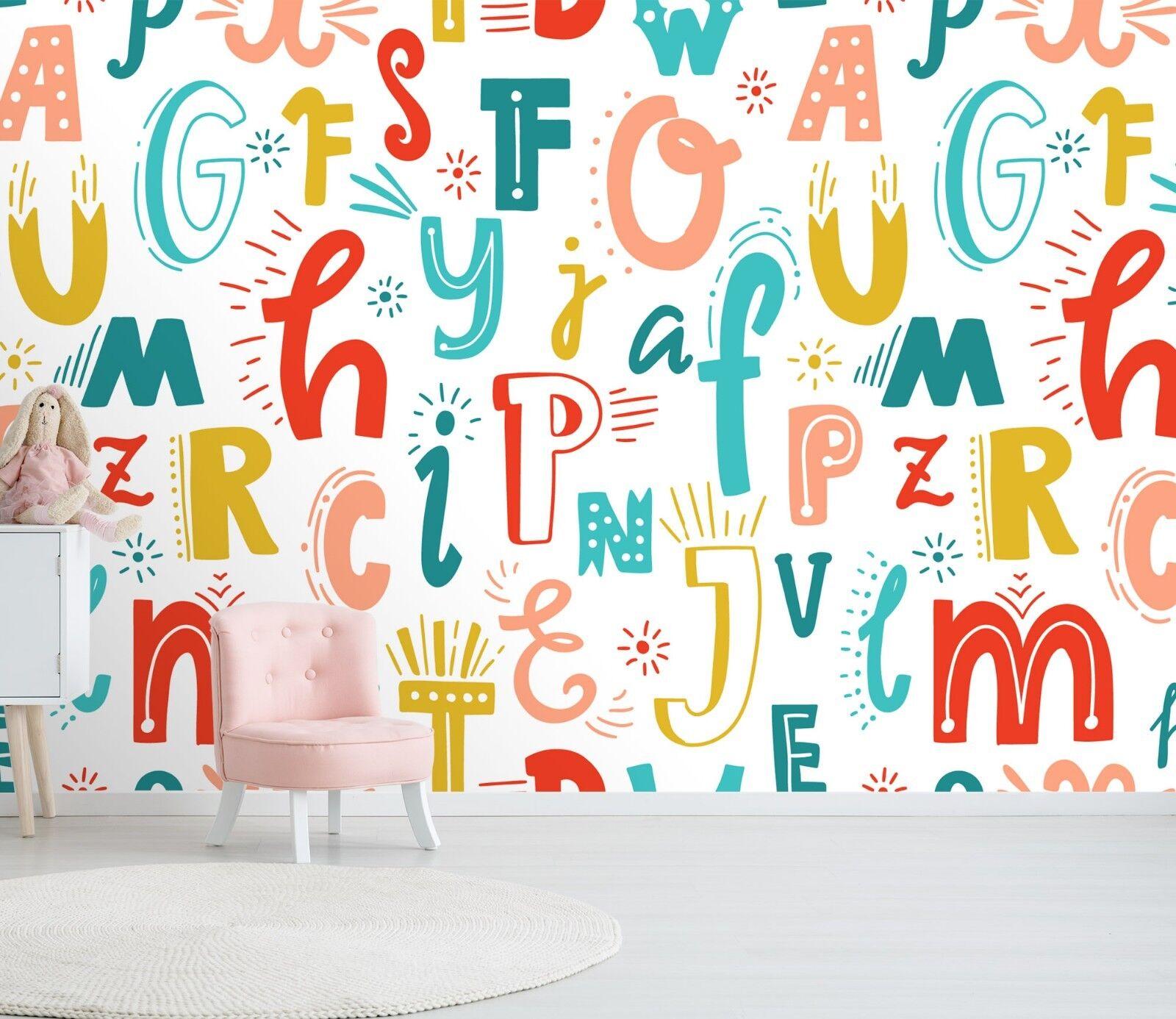 3D Farbeful Text 563 Wallpaper Murals Wall Print Wallpaper Mural AJ WALL UK