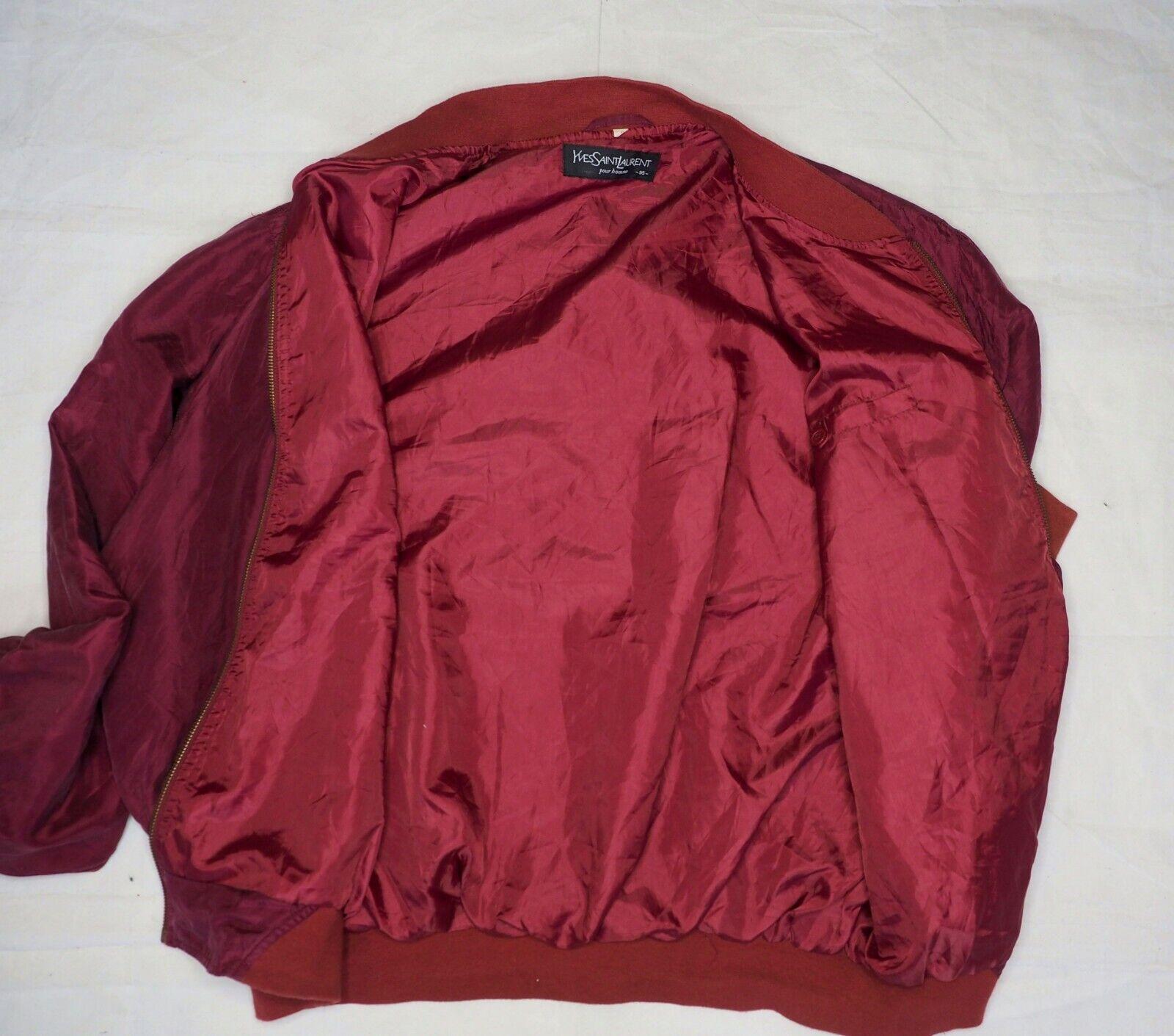 YSL Yves Saint Laurent bomber jacket short coat w… - image 8