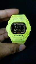 G-Shock 25th Anniversary Green Lime Lumines-Gold Button Back Case Grow UV Light