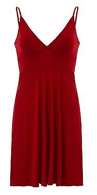 New Womens Bralet V neck Strappy Skater Dress Cami  Wrap over Flair Swing 8-22