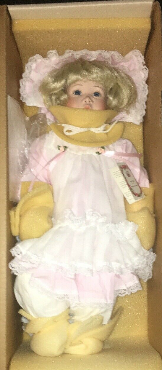 """Porcelain Doll """"Kyra"""" By Janis Bernard By Kais Inc Never Used With Box"""