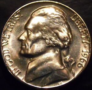 1966 BU SMS Jefferson Nickel FREE SHIPPING ON ADDITIONAL COINS