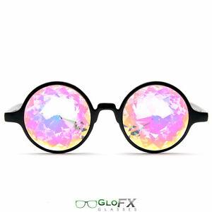 f8b681bfae26d Image is loading GloFX-Black-Kaleidoscope-Glasses-Rainbow -Prism-Refraction-Rave-