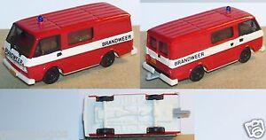 HERPA-HO-1-87-VW-LT-MINI-BUS-POMPIERS-FIRE-BRANDWEER