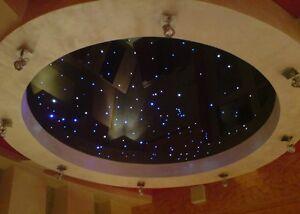 Sternenhimmel Glasfaser 100 Lichtfasern 1mm LED Sauna Badezimmer ...