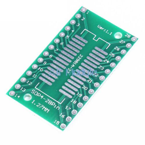 5PCS SOP28 SSOP 28 TSSOP 28 a DIP28 Adaptador Convertidor PCB Board 0.65//1.27mm Reino Unido