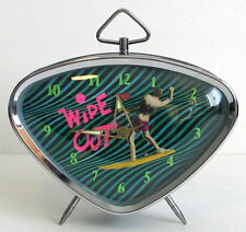 Retro Wipe Out Surfer Alarm Clock 50s 60s Vintage Modern Style Surfing New NIB