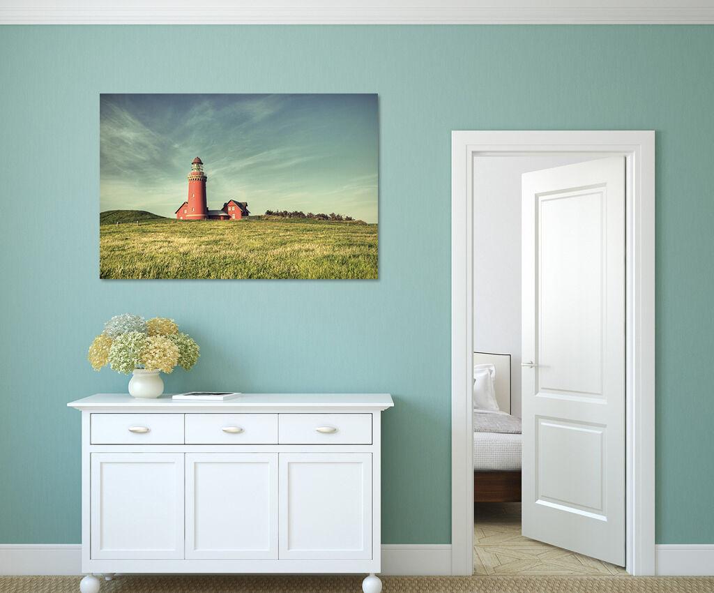 3D Roter Leuchtturm, Wiese 86 Fototapeten Wandbild BildTapete Familie AJSTORE DE