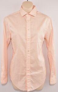 POLO-Ralph-Lauren-women-039-s-Relaxed-Fit-Camicia-in-cotone-pesca-taglia-XS